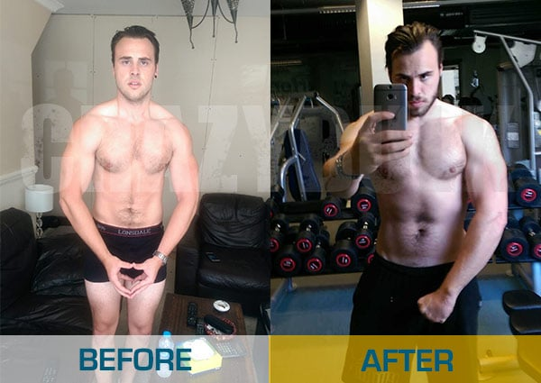 Before and After Legal Steroid usage: Matthew Williams
